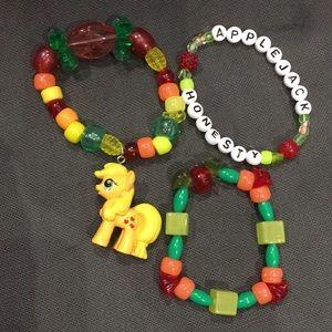 Jewelry - My little pony Apple jack kandi rave bracelet